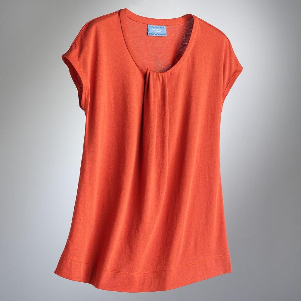 Vera wang women 39 s t shirt tee orange dolman womens top new for Simply for sports brand t shirts