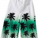 NEW Sonoma Boys Swimsuit Swim Suit White with Dip Palm Tree Pattern Large NEW