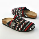 NEW Union Bay Sprite Fairisle Junior's Women's Shoes Slip Ons Clogs 8M Black Red
