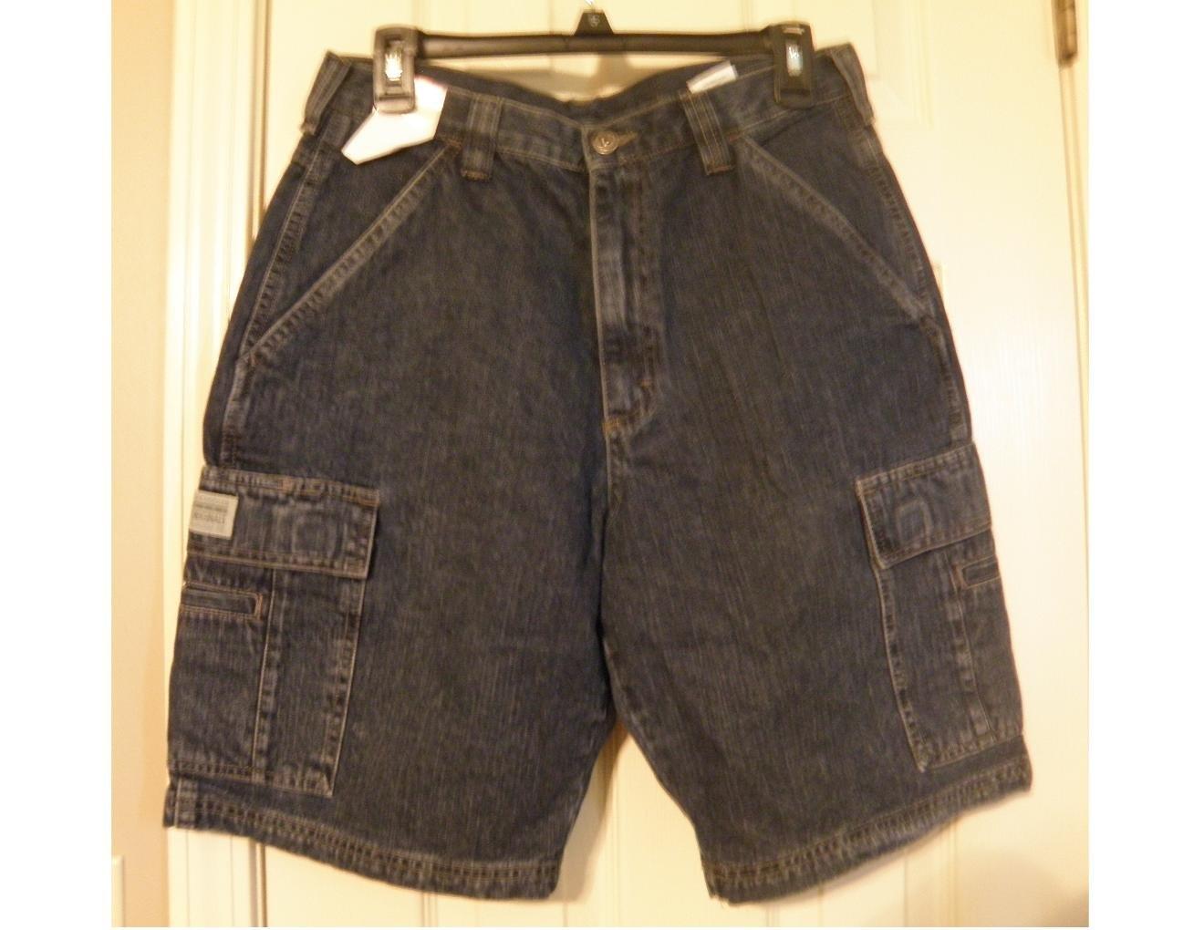 NEW Mens 30 Wrangler Denim Jean Cargo Shorts Heavy Weight Loose Fit