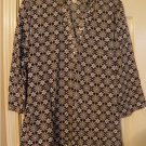 Womens Size Small Black Sequin Embellished Floral Tunic Top by White Stag NEW