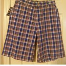 American Living Boys Teens Plaid Shorts Sz 18 Long Style Red Blue NEW