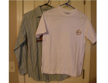 Boys 2 in 1 Casual Button-Front Shirt + Tee LARGE by Urban Pipeline NEW