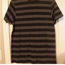 Aces & Eights Black Striped T-Shirt Tee White Sz Medium or M Young Mens NEW