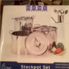 NEW Essential Home 6 Pc. StockPot Set Stainless + Bonus Utensils GIFT Idea