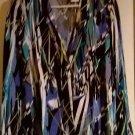 Liz Baker Womens Black Green Blue White Geo Blazer 1 Button Front Sz. Small NEW