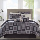 NEW Avenue 8 Cubed 7pcs Comforter Set - Black - Queen