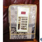 SPRINGMAID Luxury Shower Curtain - Manor Pattern Collection - Vinyl Liner Included 70 x 72 NEW