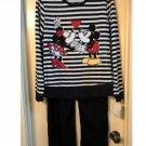 Womens Medium Disney Mickey Mouse & Minnie 2 Piece Pajama Set NEW