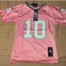 New York Giants #10 Eli Manning Jersey GIRLS MEDIUM 12 Reebok PINK NFL Football