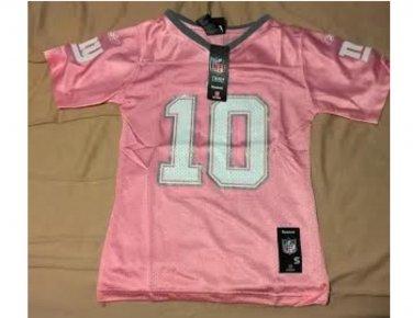 New York Giants #10 Eli Manning Jersey GIRLS MEDIUM 12 Reebok PINK ...