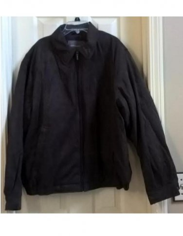 Mens Brown Croft & Barrow Microfiber Jacket or Coat Size Large L NEW