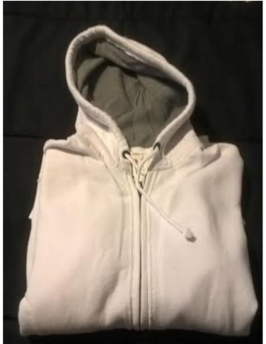Aeropostale Mens a87 Full-zip Hoodie in White Size Small Raw Edge NEW # 3079