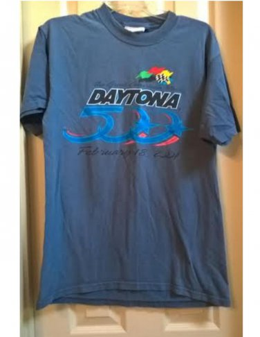 RARE Vintage 2001 Daytona 500 T-Shirt 2 Sided Official NASCAR Tee Medium