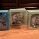 NEW Lot of 3 Scented Oil Candle Glass Candleholders from Glade in Package