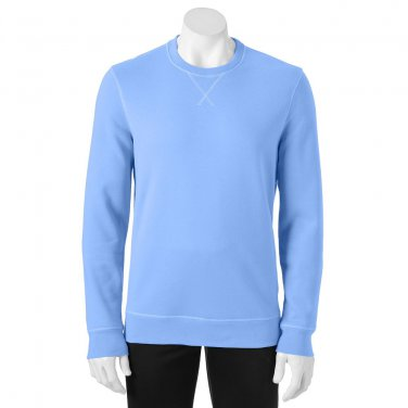 Mens Small or S Tek Gear Fleece Crew Sweatshirt Long Sleeves Carolina Blue