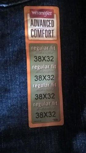NEW Wrangler Men's FiveStar Premium Advanced Comfort Regular Fit Blue Denim Jeans 38 x 32