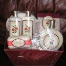 NEW 8 Pc. Lot Set of Plumeria Bath Body Items - Lotion, Soap, Loofa & More