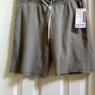 Mossimo Brand Womens Knit Bermuda Shorts Army Green Elastic Waist NEW Small