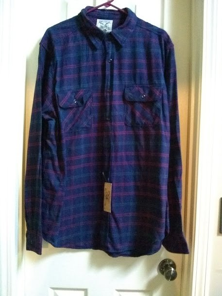 american living mens plaid flannel shirt blue xxl or 2xl new