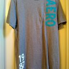 Aeropostale Sundance Verticle Graphics T-Shirt Tee Gray Size XL Extra Large Mens Teens NEW