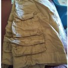 Old Navy Loose Tactical Cargo Shorts Mens Sz 33 Tan Beige Solid Lightweight Cotton Casual Shorts