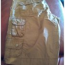 Old Navy Cargo Shorts Mens Sz 32 Brown Solid Lightweight Cotton Casual Shorts