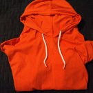 NEW Old Navy Lightweight Hoodie Men's M Orange Long Sleeve Shirt 100% Cotton