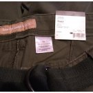CRB Mens Size 34 Classic Cargo Shorts Flat Front Relaxed Fit Green + Bonus Belt NEW