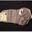 Womens Socks CRANE 5-pk. Gray White TanNo-Show Socks Lot NEW