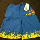 NEW Carters Boys Swimsuit Swim Suit Blue Flames Dragons Sz 18/20 XL Extra Large NEW