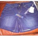 NEW Size 4 Womens Dark Wash Medium Rise Knit Denim Jeans Shorts by Seven 7 $49.00 NEW