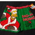 NEW The Simpsons Ho Ho Homer Christmas Boxer Shorts Boxers Size Medium M