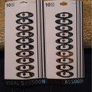 Vidal Sassoon Mini Barrettes Hair Clips Set of 10 NEW # VS 11246