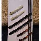 Vidal Sassoon Enamel Bar Barrettes Hair Clips Set of 6 Small & Large NEW # VS 11327