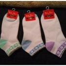 Womens Socks Tiff 'N Tam Sports and Casual Ankle Cut Womens Socks 3 Pair Lot NEW