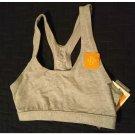NEW Champion C9 Duo Dry Cotton Stretch Sports Bra Heather Gray KeyHole Racerback Sz XS NEW