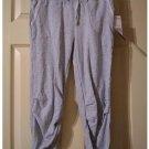 Juniors Miley Cyrus Medium M Heather Gray Cropped Capri Length Fleece Pants New