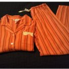 Womens Small Gilligan O'Malley 2 Piece Pajama Set 100% Cotton Stripes NEW
