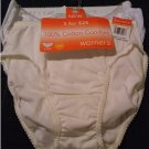 NEW Womens 5603K Warners 100% Cotton Comfort Bikini Panties 3 Pair Size Small