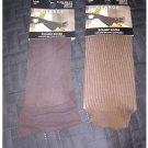 New Lot of 2 Brown Knee-High Trouser Nylon Socks BROWN Shoe Size 4-10