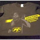 Mens Teens Boys Gray Duck Commander CAUTION Tee T-Shirt Medium NEW