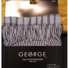 Size Small George Brand 2 Pack 2 Pairs Boxer Shorts Plaid Stripe Woven Boxers
