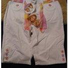 Mary-Kate and Ashley White Bermuda Shorts + Bonus Scarf Belt Sz 16 Girls NEW