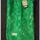 UMBRO Boys Green Soccer Style Shorts - Size Large L - Polyester Checker NEW