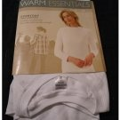 Cuddl Duds Warm Essentials Size Small White Thermal Top Long Sleeves NEW