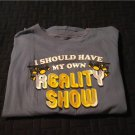 NEW Boys Blue Tee ... Reality Show Sz L 12/14 Faded Glory Novelty Tee Graphic Tee