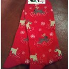 Women's Christmas Crew Socks - Red with All Over Reindeers Shoe Size 4-10 NEW