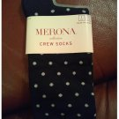 New Black Dot Crew Length Socks by Merona Sz 4-10 Casual Socks NEW