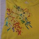 NEW Womens Adidas Kaleidoscope Lemon Multi Color LOGO Tee Womens Large L